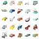 Transportation Icons Set, Cartoon Style - GraphicRiver Item for Sale