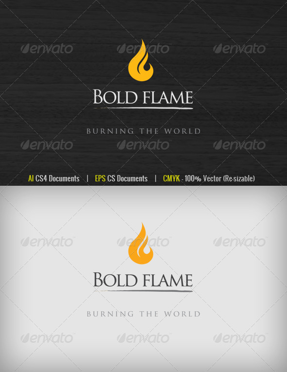 Bold Flame Logo - Symbols Logo Templates