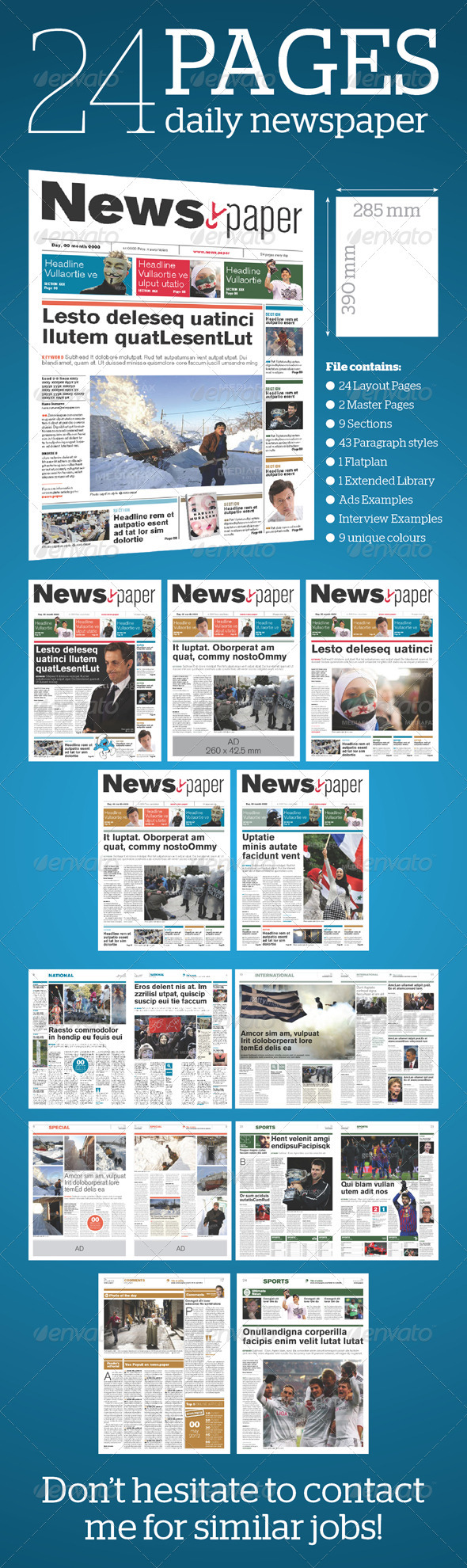 24 pages daily newspaper by moors graphicriver 24 pages daily newspaper newsletters print templates pronofoot35fo Choice Image