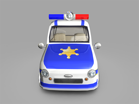 Police Car Toy - 3DOcean Item for Sale