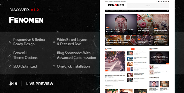 Fenomen | Legendary Blog & Magazine WordPress Theme