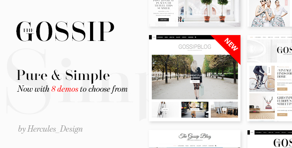 GossipBlog - Pure & Simple Personal WordPress Blog - Personal Blog / Magazine
