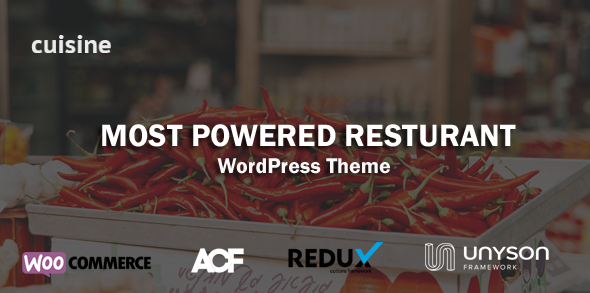 Cuisine – Restaurant WordPress Theme