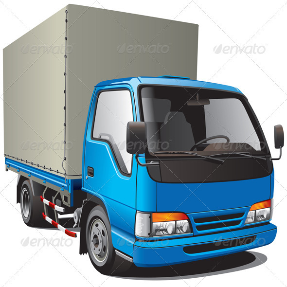 Small Blue Truck - Objects Vectors