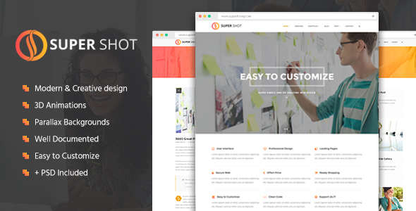SuperShot - Creative Agency Landing Page - Creative Landing Pages