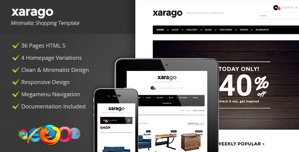Xarago - Minimalist Shopping Template - Shopping Retail