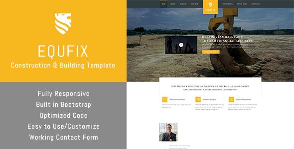 Equfix – Building & HTML Template