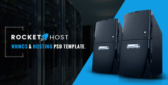 Rocket Host – WHMCS & Hosting PSD Template