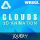 Clouds - jQuery 3D Animation