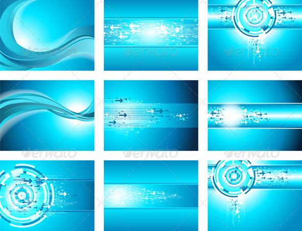 Site Blue Wave and Arrows Background collection - Backgrounds Decorative