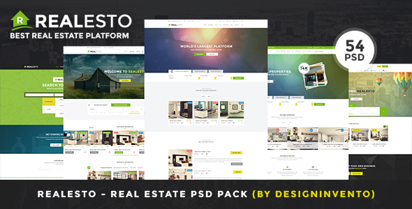 Realesto - Real Estate PSD Pack - Business Corporate