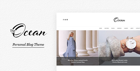 Ocean – Personal Blog Template for Travelers and Dreamers