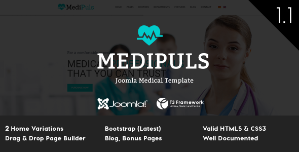 Medipuls – Joomla Medical Template