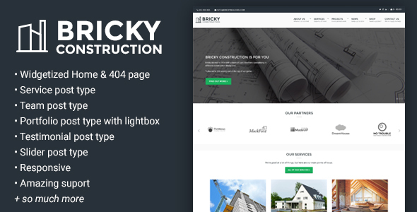 Bricky: A Construction & Builders WordPress Theme - Business Corporate
