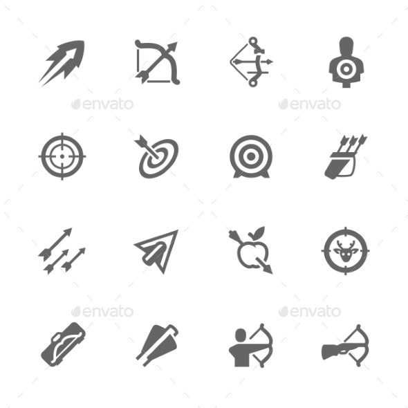 Simple Bows And Arrows Icons  - Icons