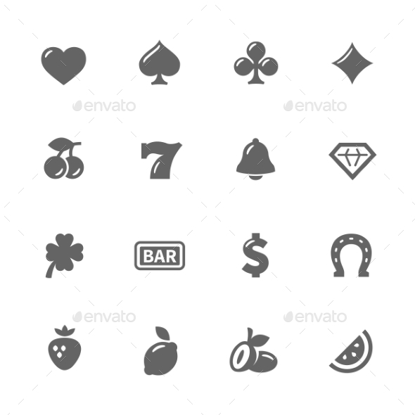 Simple Slot Machine Icons - Icons