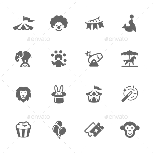 Simple Circus Icons - Miscellaneous Icons