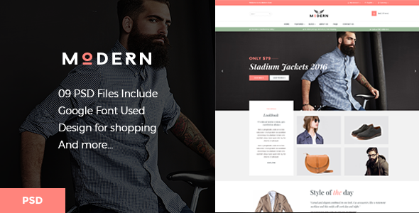 Modern - eCommerce PSD Template - Shopping Retail