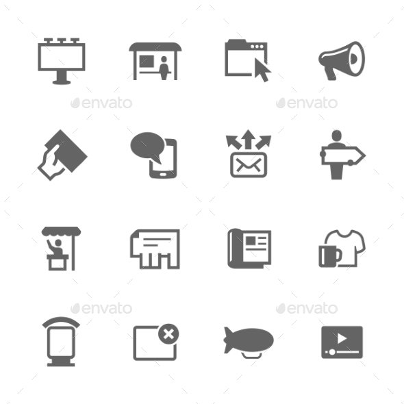 Simple Advertisement Icons  - Icons