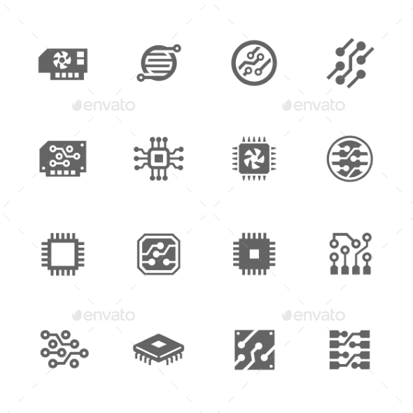 Simple Electronics Icons  - Icons