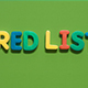 The Word Red List - VideoHive Item for Sale