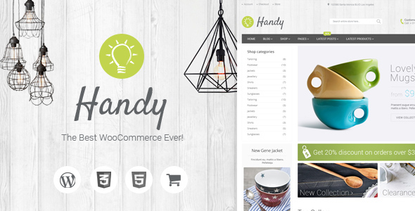 Handy - Handmade Shop WordPress WooCommerce Theme - WooCommerce eCommerce