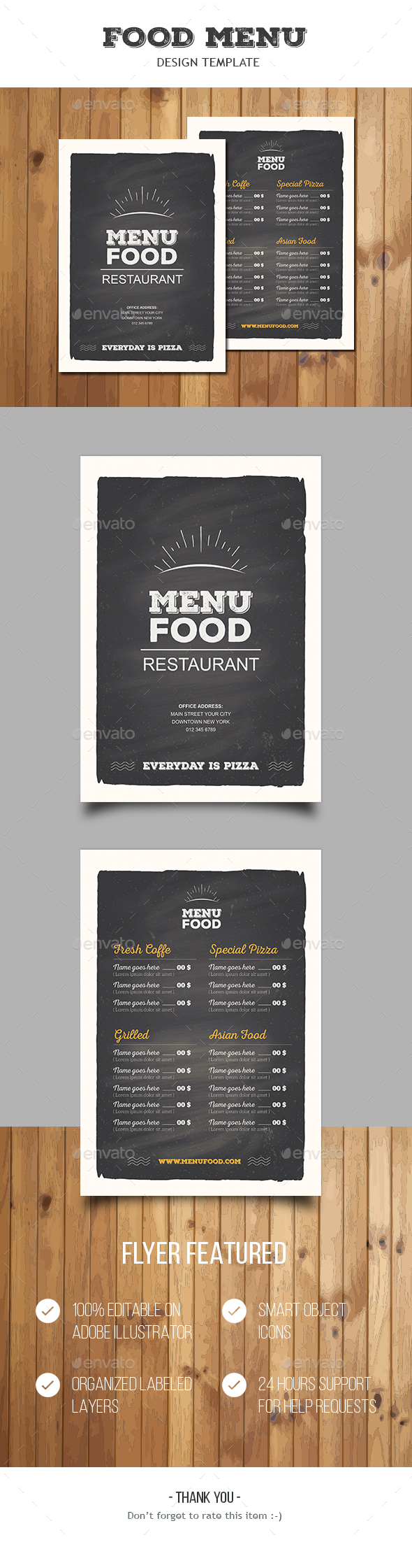 Food Menu - Food Menus Print Templates