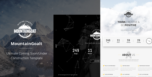 Mountaingoat – Ultimate Coming Soon/Under Construction Template