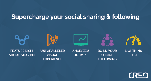 Extend your social sharing and following