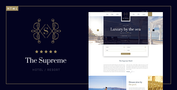The Supreme – Luxury Hotel HTML5 & CSS3 Template