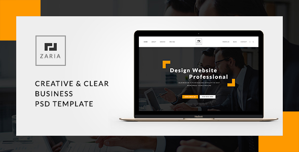 Zaria - A Beautiful & Smart Business PSD - Corporate PSD Templates