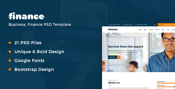 Finance – Business, Finance PSD Template  - Corporate PSD Templates
