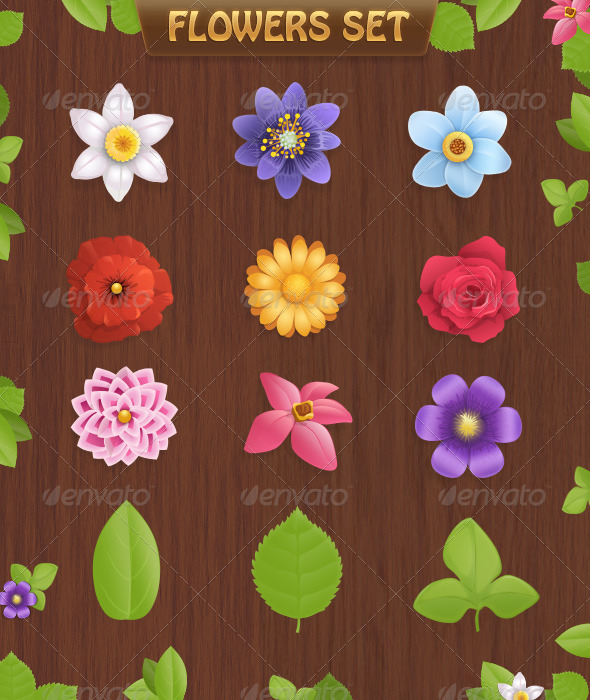 Flowers set - Graphics