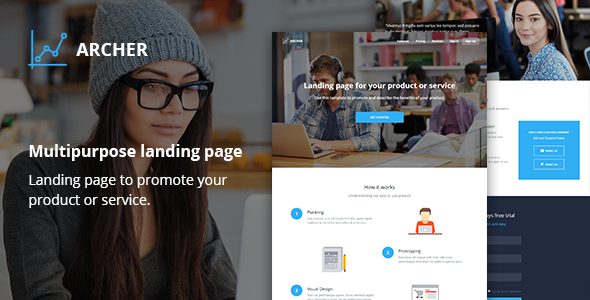 Archer – Responsive Landing Page