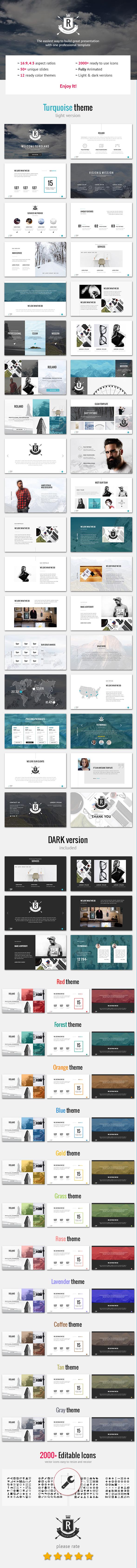 Roland – Premium Photo-based Template - PowerPoint Templates Presentation Templates