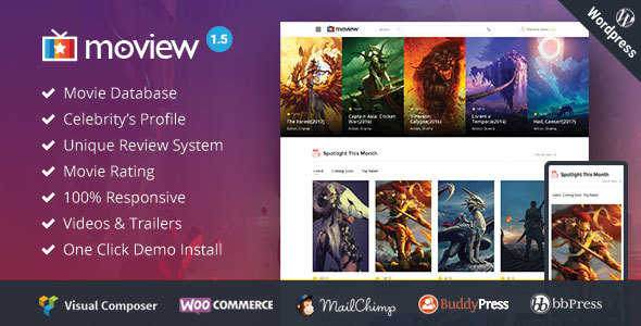 Moview – Responsive Film/Video DB & Review Theme