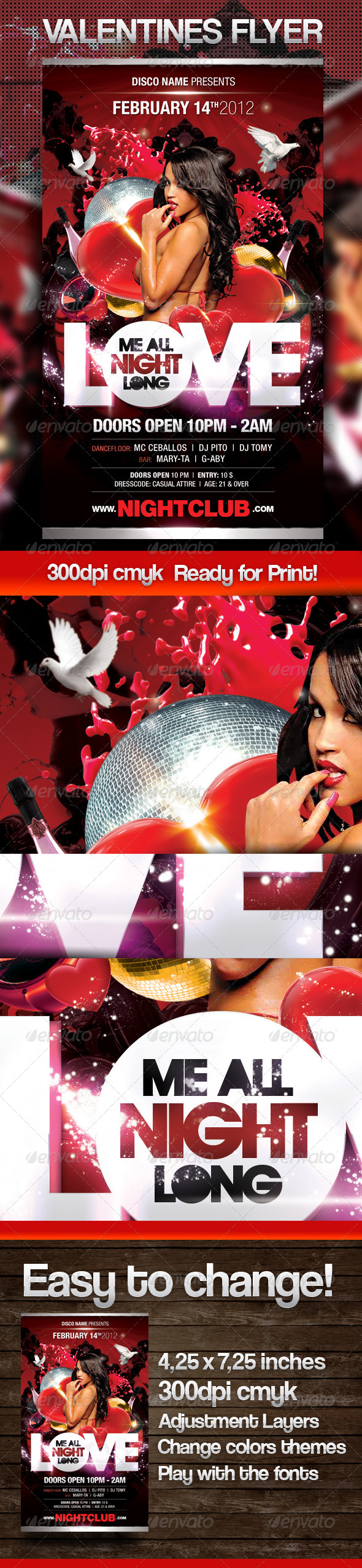 Love Me All Night Long - Clubs & Parties Events