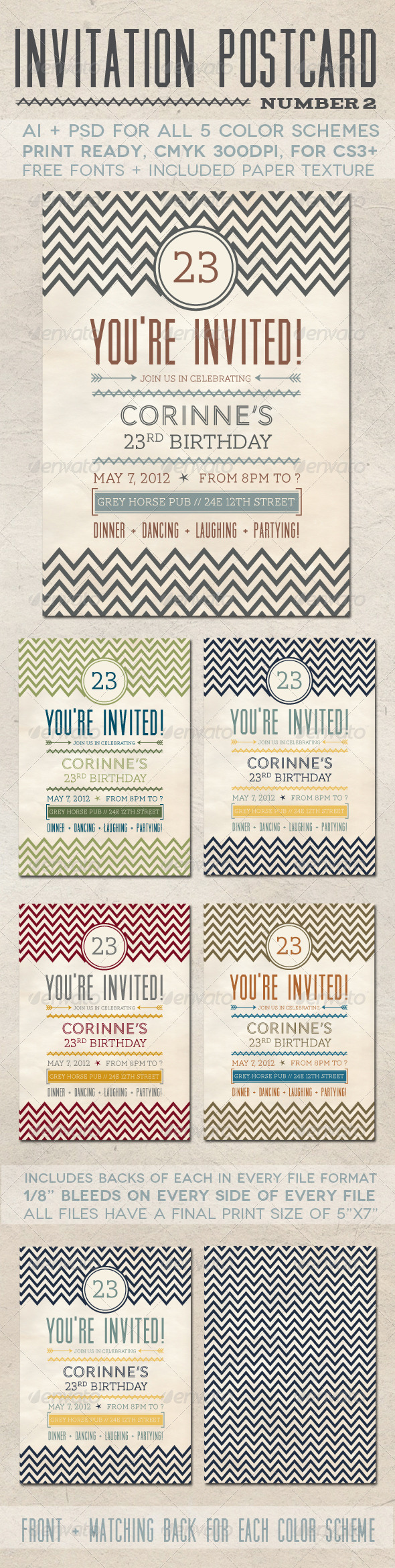 Invitation Postcard 2 - Invitations Cards & Invites