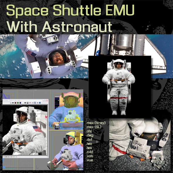 Space Shuttle EMU - 3DOcean Item for Sale