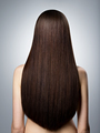 Woman with long brown straight  hair. Rear view - PhotoDune Item for Sale