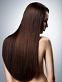 Portrait of beautiful woman with long straight brown hair - PhotoDune Item for Sale