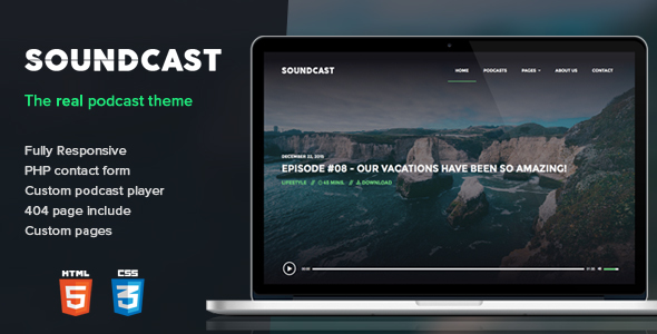 Soundcast – Podcast Responsive Theme