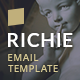 Richie Email Template + StampReady Builder Demo - ThemeForest Item for Sale