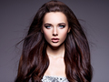 Portrait of the beautiful  young woman with long brown  hair - PhotoDune Item for Sale