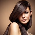 Beautiful young woman with long straight brown hair. - PhotoDune Item for Sale