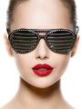 Fashion portrait of  woman wearing black sunglasses with diamond - PhotoDune Item for Sale