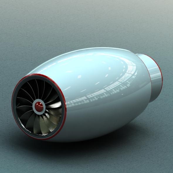 Jet Motor - 3DOcean Item for Sale
