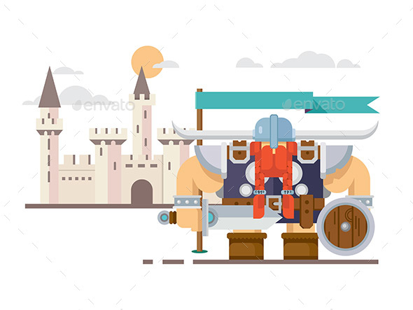 Viking And The Castle - People Characters