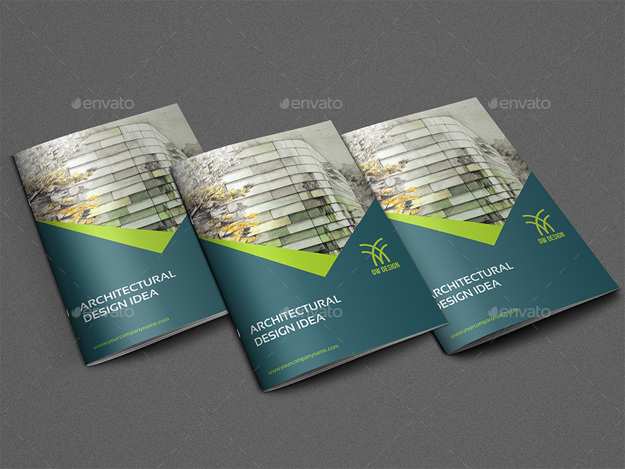 Architectural Design Brochure Template 12 Pages By Owpictures