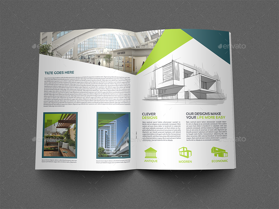 Architecture Brochure Template | Architectural Design Brochure Template 12 Pages By Owpictures